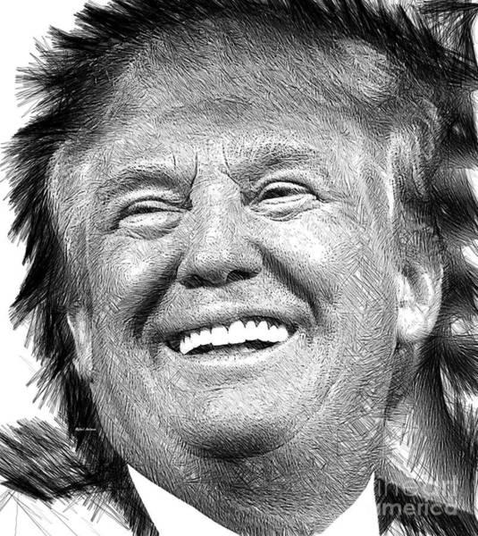 Digital Art - Donald J. Trump by Rafael Salazar