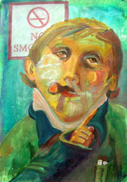 Transfer Mixed Media - Don't Smoke by Buff Holtman