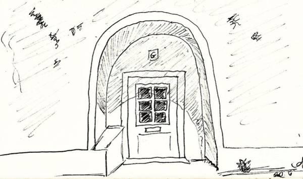Drawing - Door In Elvas by Chani Demuijlder