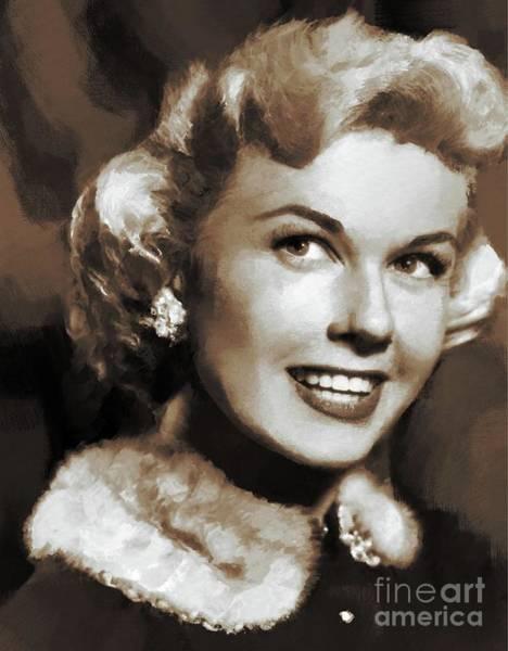 Pinewood Painting - Doris Day, Actress by Mary Bassett