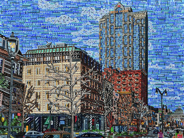 Wall Art - Painting - Downtown Raleigh - Fayetteville Street by Micah Mullen