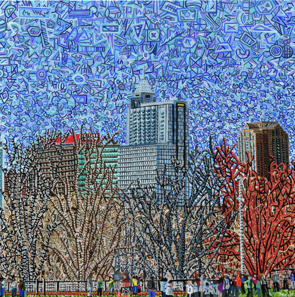 Wall Art - Painting - Downtown Raleigh - View From Chavis Park by Micah Mullen