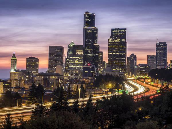 Photograph - Downtown Seattle by Kyle Wasielewski