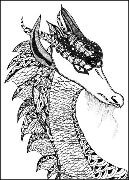 Drawing - Dragon by Barbara McConoughey