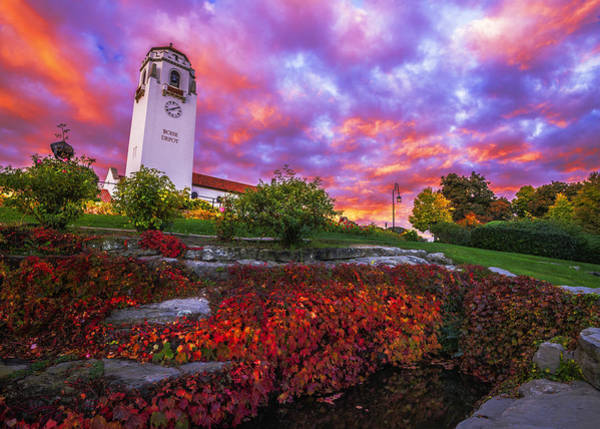Depot Photograph - Dramatic Autumn Sunrise At Boise Depot In Boise Idaho by Vishwanath Bhat