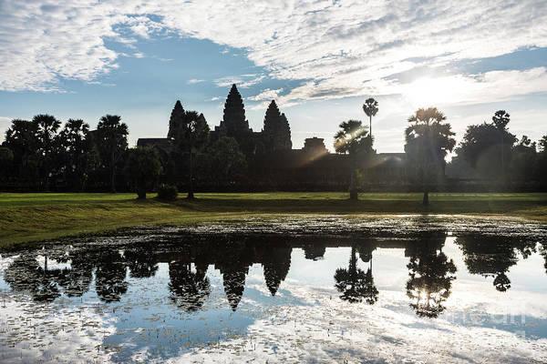 Photograph - Dramatic Sunrise Over The Famous Angkor Wat by Didier Marti