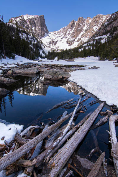 Wall Art - Photograph - Dream Lake Winter - Vertical by Aaron Spong