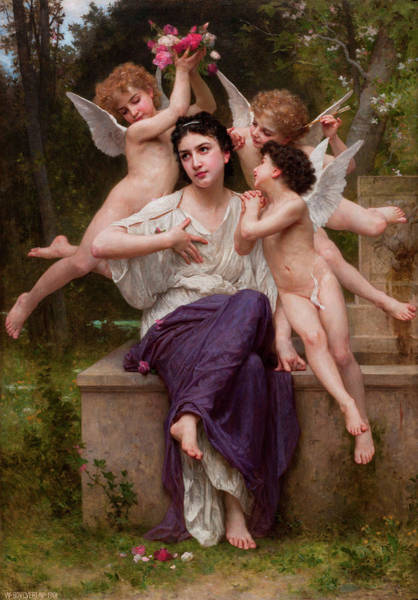 Goddess Of Love Wall Art - Painting - Dream Of Spring by Adolphe William Bouguereau