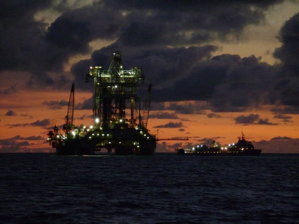 Photograph - Drill Rig At Dusk by Charles and Melisa Morrison