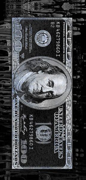 Money Digital Art - Drippin Bens by Canvas Cultures