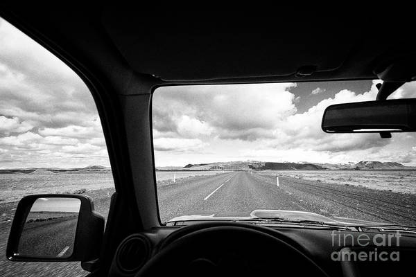 Wall Art - Photograph - driving along the ring road Hringvegur in southern iceland by Joe Fox