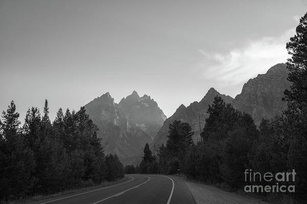 Purple Haze Photograph - Driving Through The Tetons by Michael Ver Sprill
