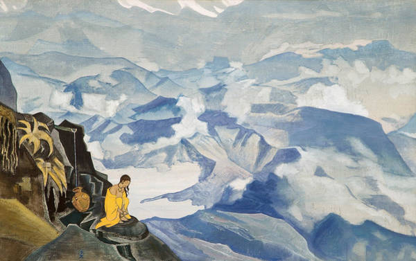 Metaphor Painting - Drops Of Life by Nicholas Roerich