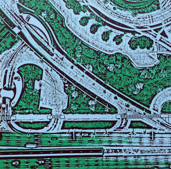 Aerial View Digital Art - Dubai Roadways by Toni Silber-Delerive