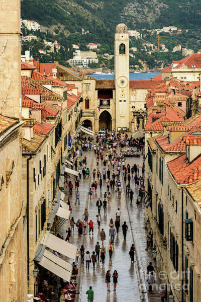 Photograph - Dubrovnik Stradun From The City Walls, Dubrovnik, Croatia by Global Light Photography - Nicole Leffer