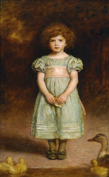 Painting - Ducklings by John Everett Millais