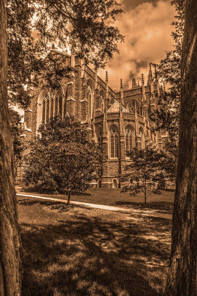 Photograph - Duke Chapel Sepia by Dimitry Papkov