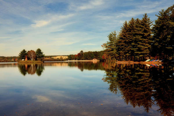 Dun Photograph - Dunning Lake In Autumn by Mountain Dreams