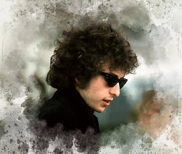 Bob Dylan Digital Art - Dylan #2 by Karl Knox Images