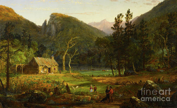 Wall Art - Painting - Eagle Cliff, Franconia Notch, New Hampshire by Jasper Francis Cropsey