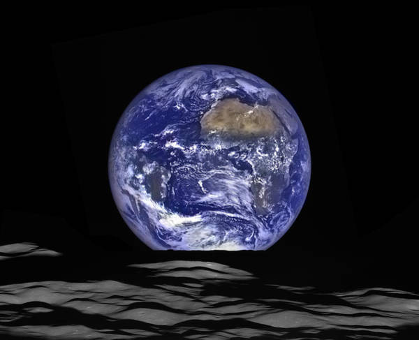 Reconnaissance Photograph - Earthrise by Mark Kiver