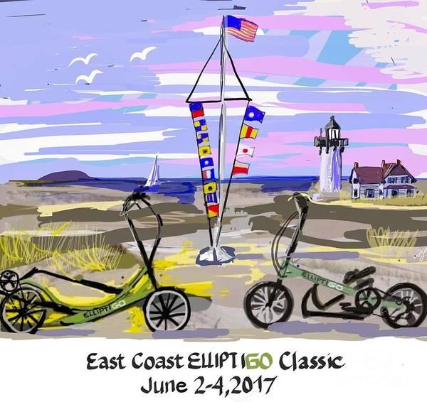 Painting - East Coast Elliptigo Classic by Francois Lamothe