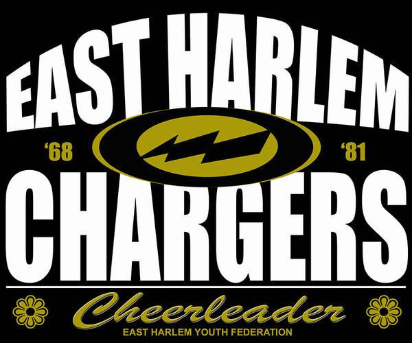 Cheerleaders Digital Art - East Harlem Chargers Cheerleader by Timur Bey