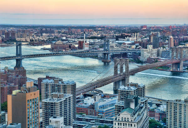 Wall Art - Photograph - East River Crossings by June Marie Sobrito