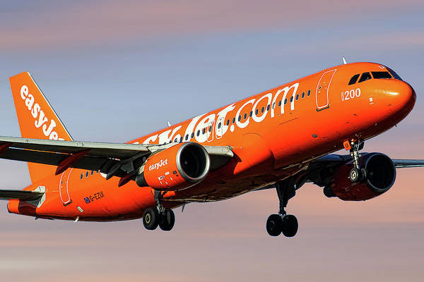 Easyjet Wall Art - Mixed Media - Easyjet 200th Airbus Livery Airbus A320-214 by Smart Aviation