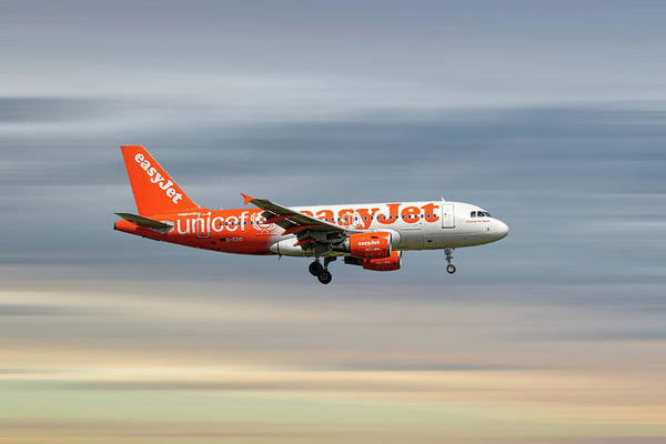 Easyjet Wall Art - Mixed Media - Easyjet Unicef Livery Airbus A319-111 by Smart Aviation