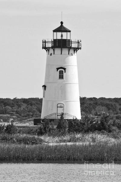 Photograph - Edgartown Lighthouse Black And White by Carol Groenen