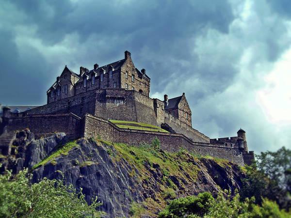 Castle Garden Photograph - Edinburgh Castle Scotland. by Amanda Finan