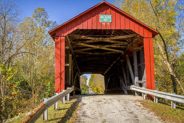 Photograph - Edna Collins Covered Bridge by Jack R Perry