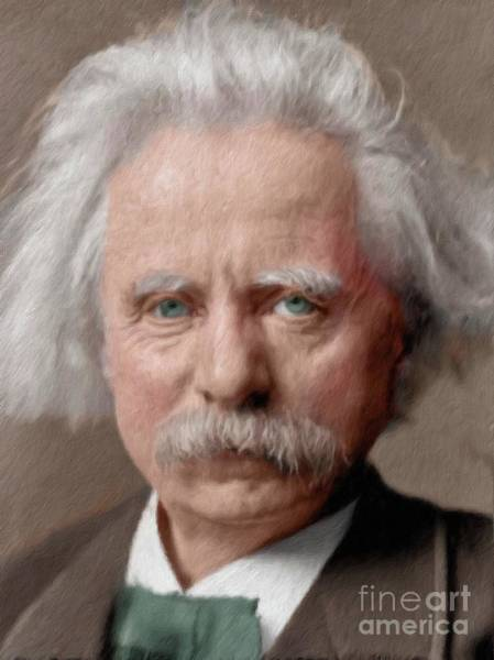Poetry Painting - Edvard Grieg, Composer by Mary Bassett
