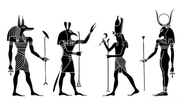 Archeology Digital Art - Egyptian Gods by Michal Boubin