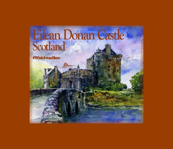 Eilean Donan Castle Painting - Eilean Donan Castle Scotland by John D Benson