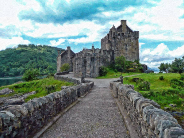 Painting - Eilean Donan Castle - -sct665549 by Dean Wittle