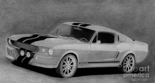 Cobra Drawing - Eleanor by George Sonner
