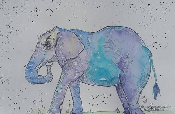 Wall Art - Painting - Elephant  by Arrin Burgand