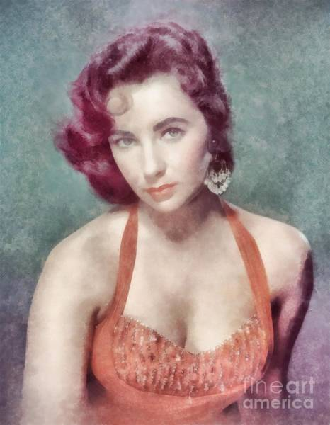 Elizabeth Taylor Painting - Elizabeth Taylor By John Springfield by John Springfield
