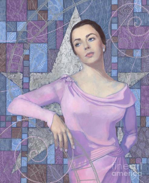 Comission Painting - Elizabeth Taylor by Julia Khoroshikh
