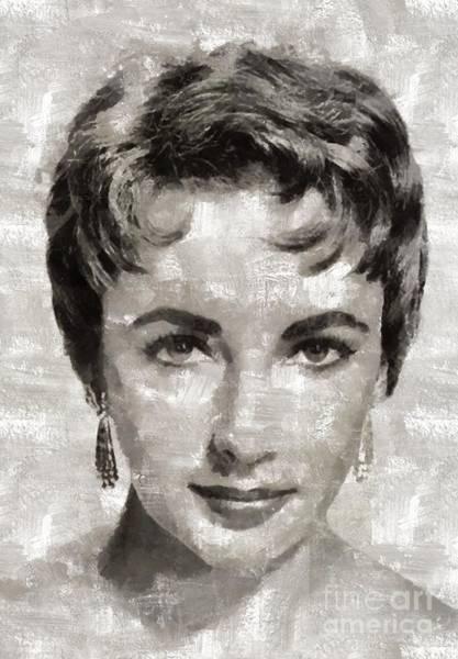Elizabeth Taylor Painting - Elizabeth Taylor, Vintage Hollywood Legend by Mary Bassett