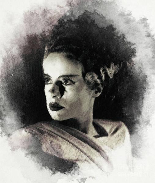 Wall Art - Digital Art - Elsa Lanchester, Bride Of Frankenstein by John Springfield