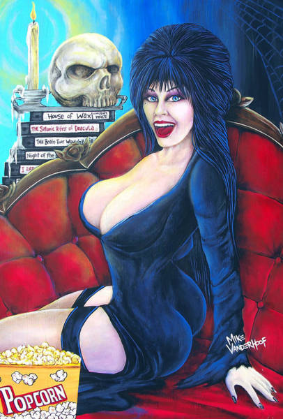 The Walking Dead Painting - Elvira by Michael Vanderhoof