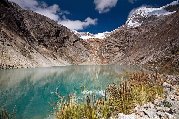 Emerald Green Mountain Lake At 4500m Art Print