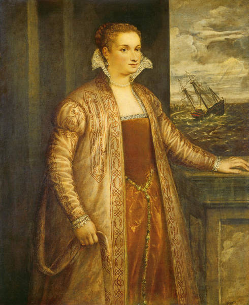 Painting - Emilia Di Spilimbergo by Follower Of Titian
