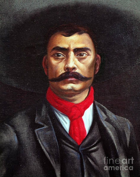 Rebel Painting - Emiliano Zapata by Mexican School