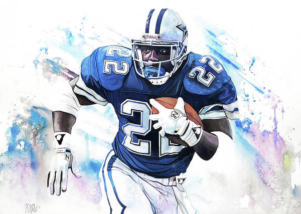 47710f43e9 Painting - Emmitt Smith 90's Greats by Michael Pattison
