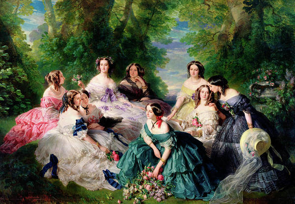Lady In Waiting Painting - Empress Eugenie Surrounded By Her Ladies In Waiting by Franz Xaver Winterhalter