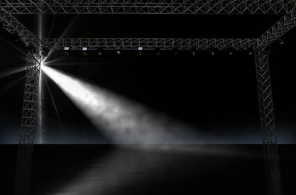 Wall Art - Digital Art - Empty Stage Spotlit by Allan Swart